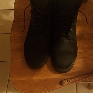 Black Timberland Boots size 10.5 med